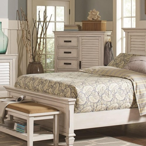 Franco 5 Drawer Man S Chest With Louvered Panel Door Atl