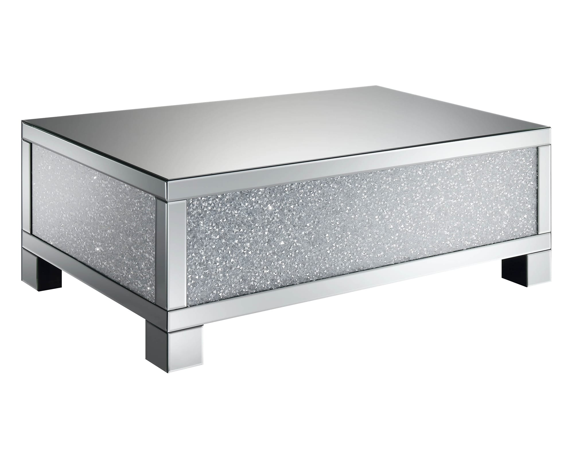 Contemporary Silver Coffee Table Atl All The Luxury Furniture